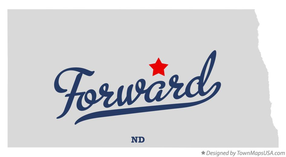 Map of Forward North Dakota ND