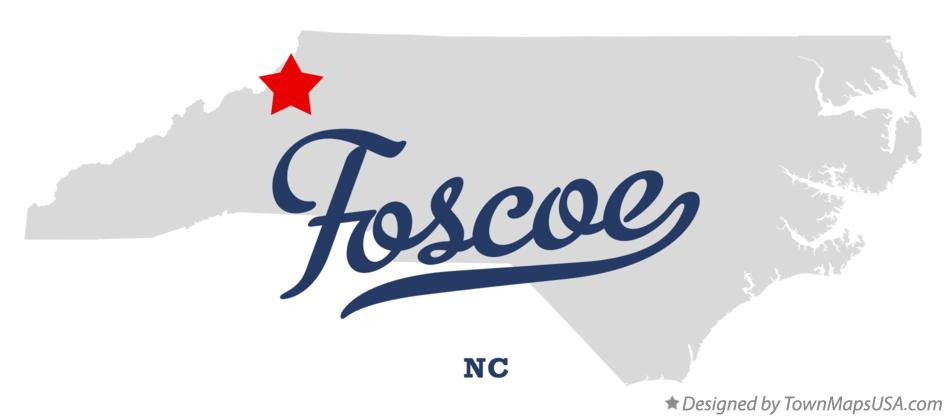 Map of Foscoe North Carolina NC