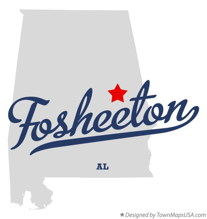 Map of Fosheeton Alabama AL