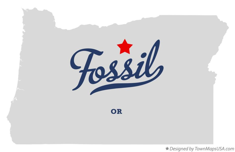 Map of Fossil Oregon OR