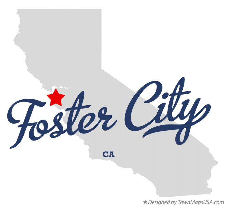 Map of Foster City California CA