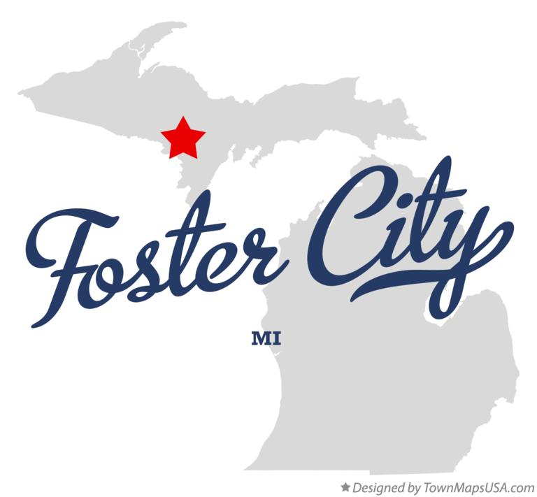Map of Foster City Michigan MI