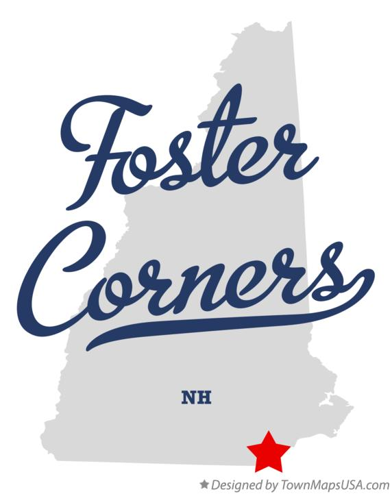 Map of Foster Corners New Hampshire NH