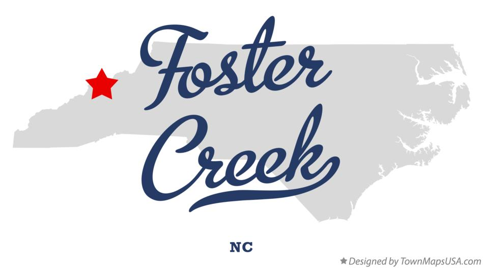 Map of Foster Creek North Carolina NC