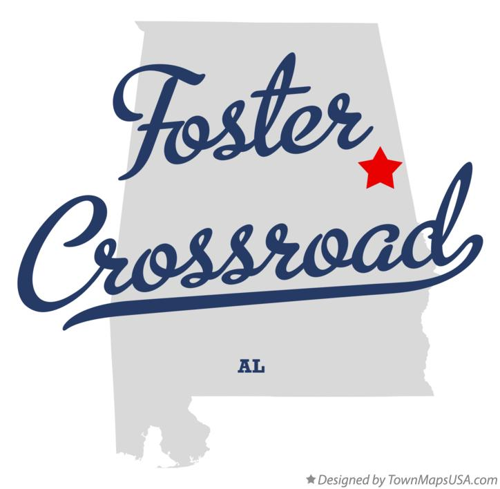 Map of Foster Crossroad Alabama AL