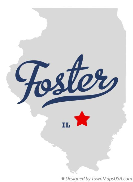 Map of Foster Illinois IL