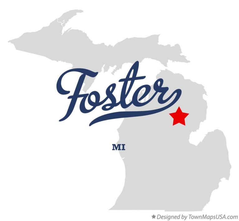 Map of Foster Michigan MI
