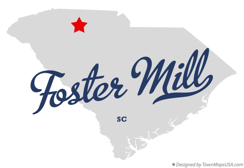 Map of Foster Mill South Carolina SC