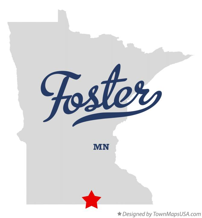Map of Foster Minnesota MN