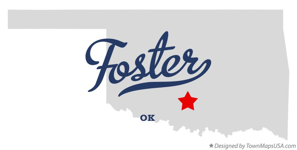 Map of Foster Oklahoma OK