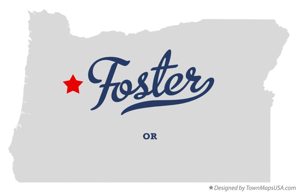 Map of Foster Oregon OR