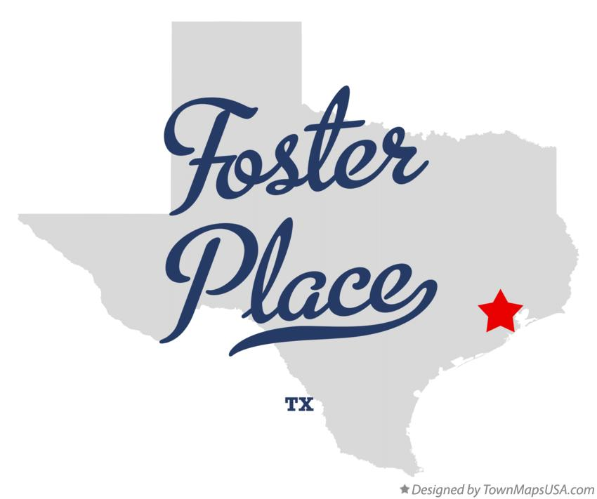 Map of Foster Place Texas TX