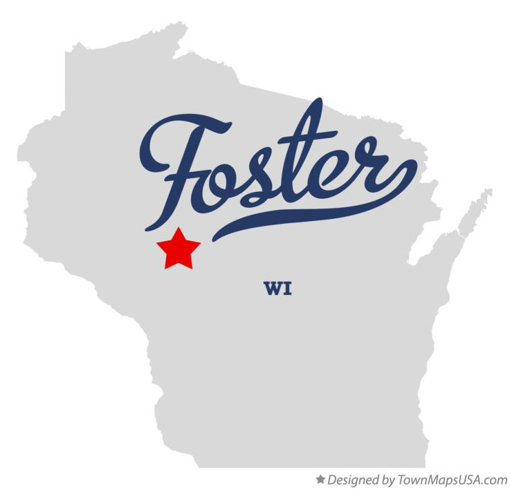 Map of Foster Wisconsin WI