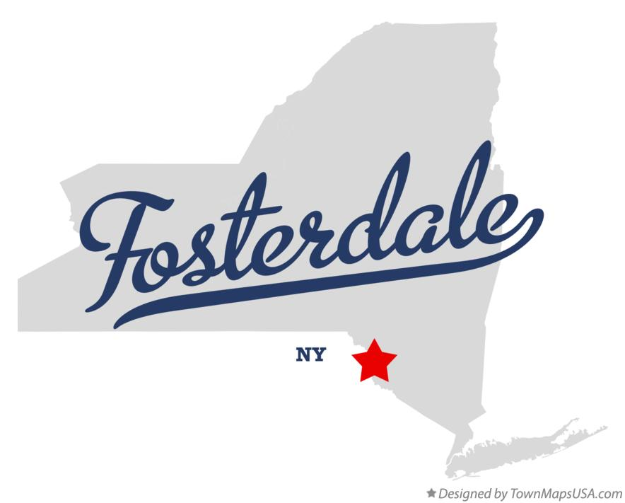 Map of Fosterdale New York NY