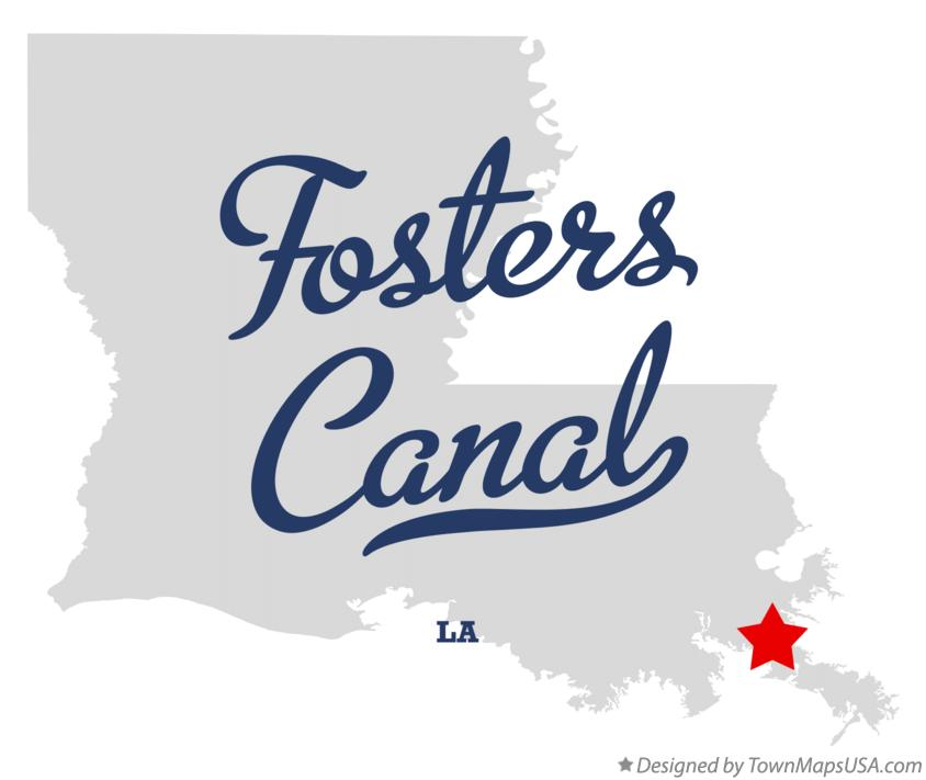 Map of Fosters Canal Louisiana LA