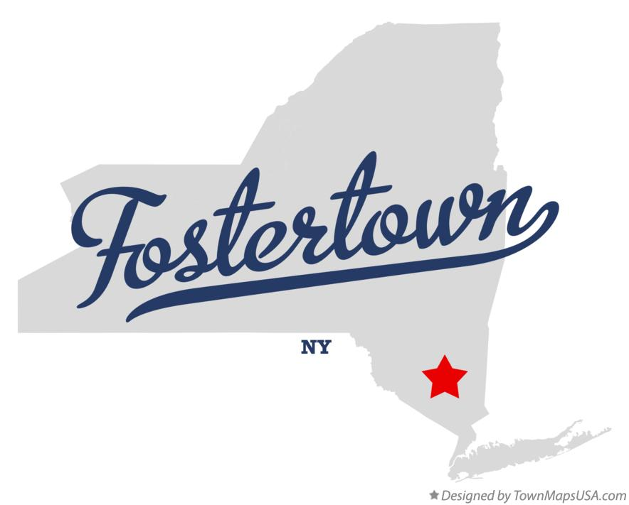 Map of Fostertown New York NY