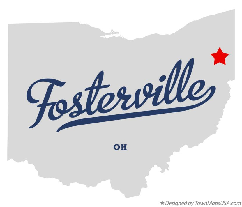 Map of Fosterville Ohio OH