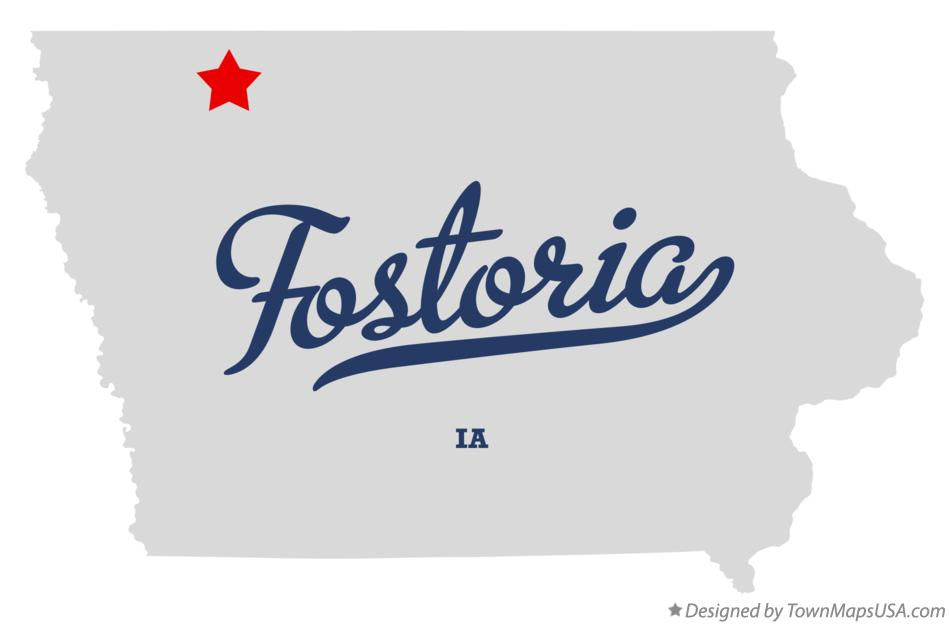 Map of Fostoria Iowa IA