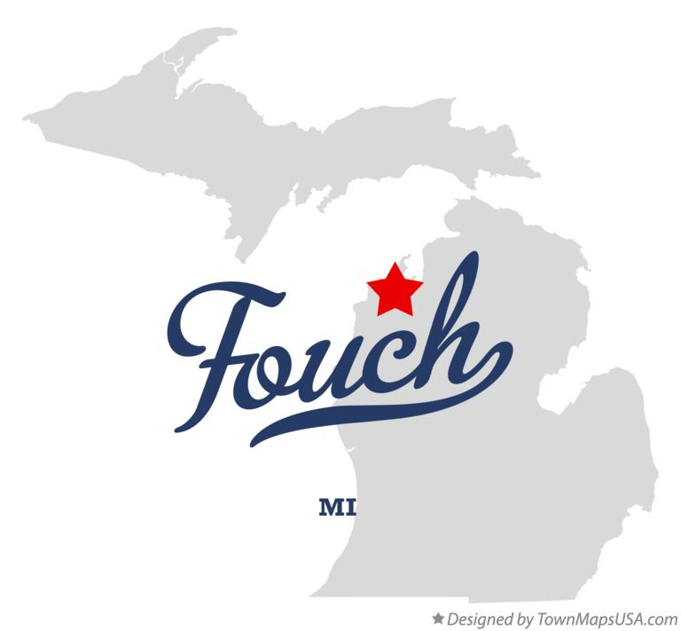 Map of Fouch Michigan MI