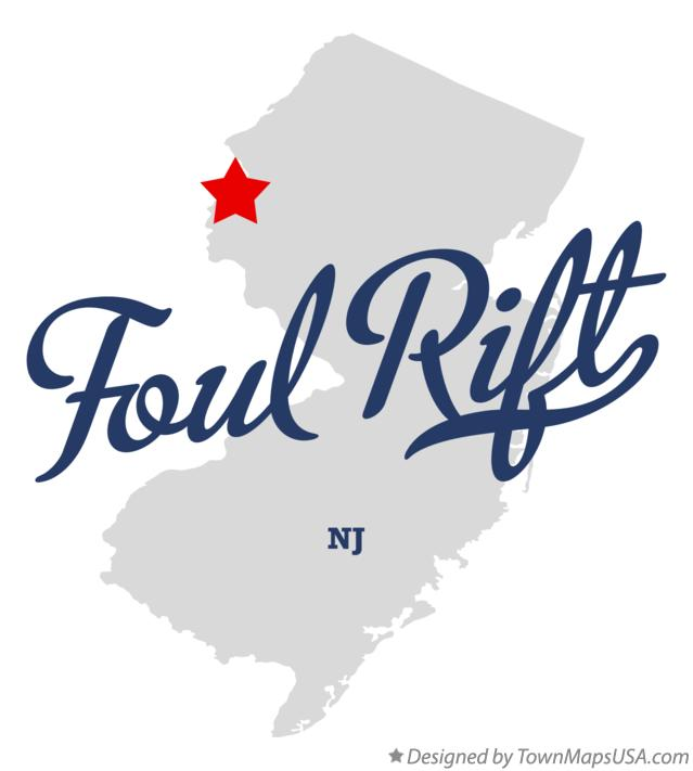 Map of Foul Rift New Jersey NJ