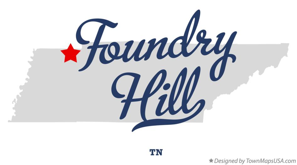 Map of Foundry Hill Tennessee TN