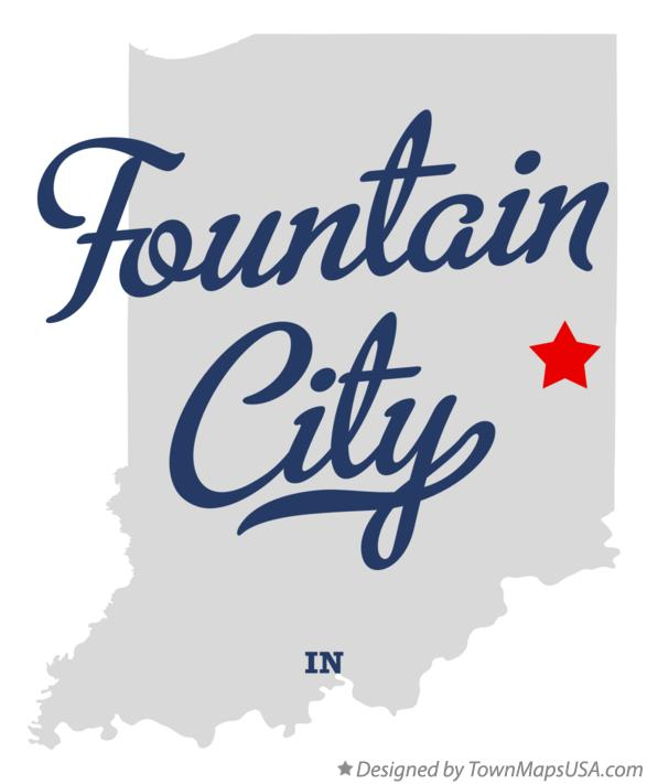 Map of Fountain City Indiana IN
