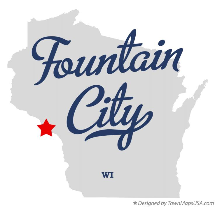 Map of Fountain City Wisconsin WI