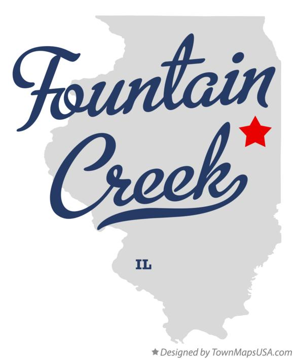 Map of Fountain Creek Illinois IL