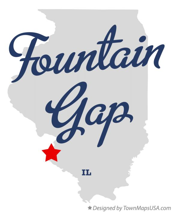 Map of Fountain Gap Illinois IL