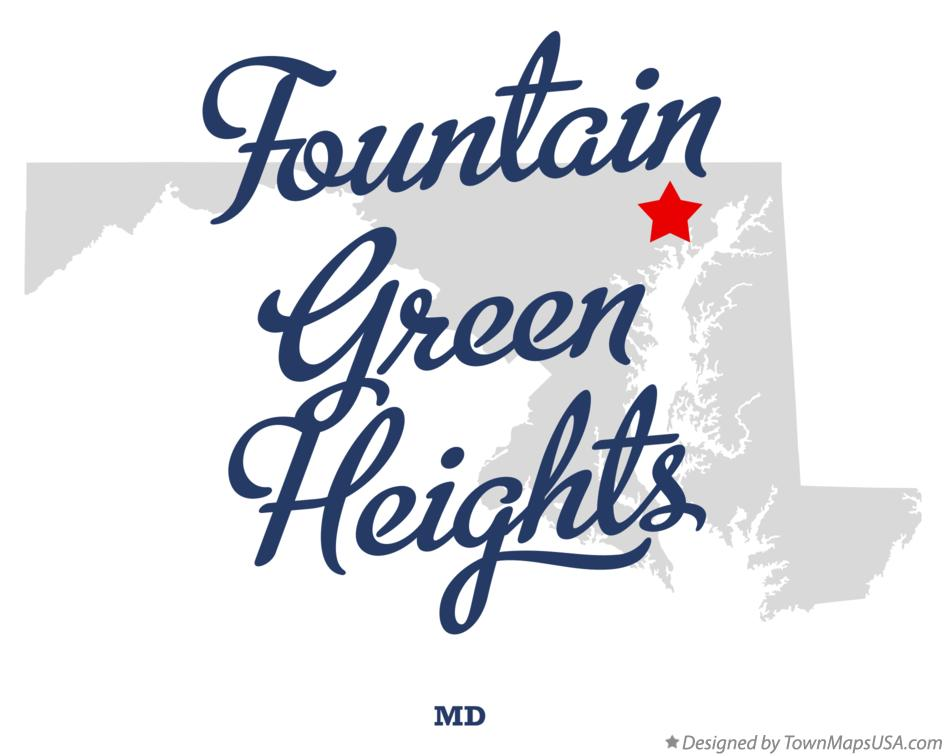 Map of Fountain Green Heights Maryland MD