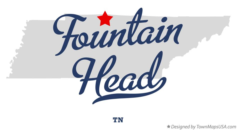 Map of Fountain Head Tennessee TN