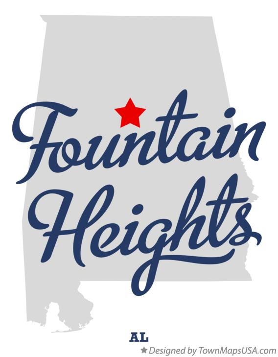 Map of Fountain Heights Alabama AL