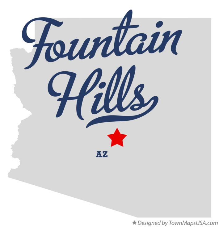 Map of Fountain Hills Arizona AZ