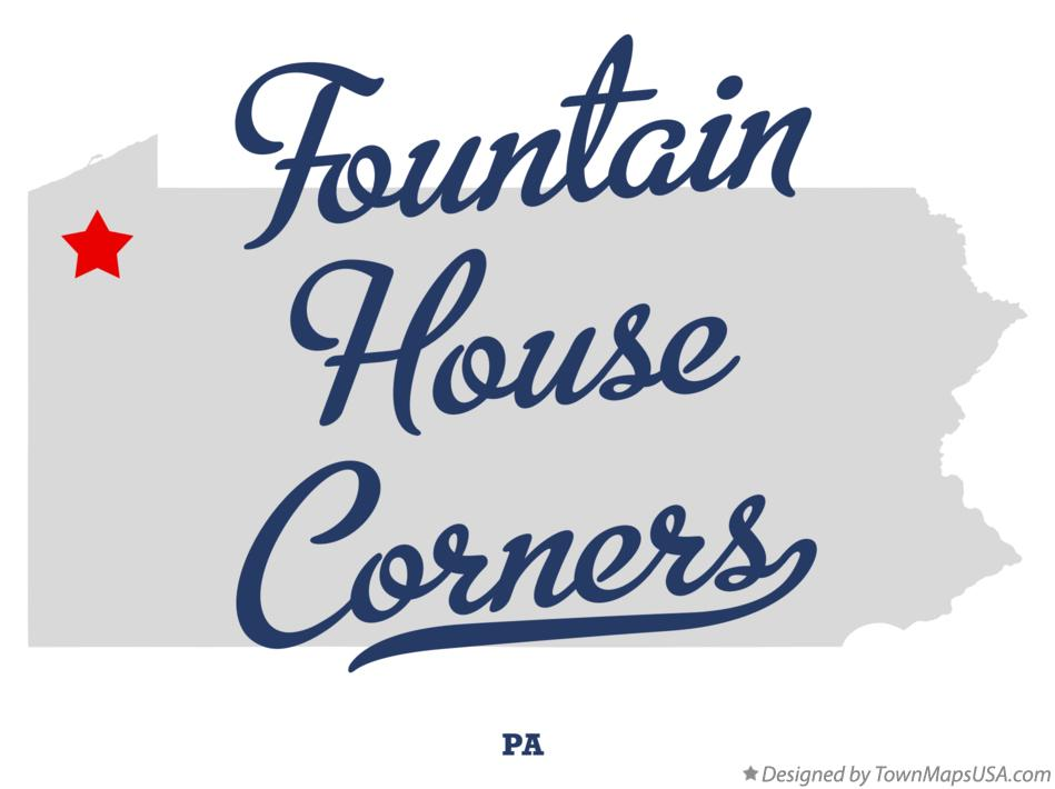 Map of Fountain House Corners Pennsylvania PA