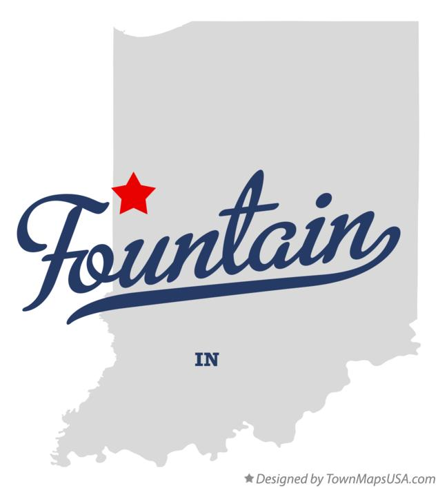 Map of Fountain Indiana IN
