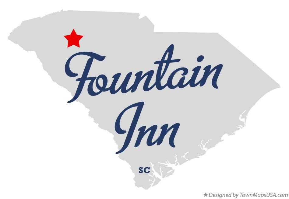 Map of Fountain Inn South Carolina SC