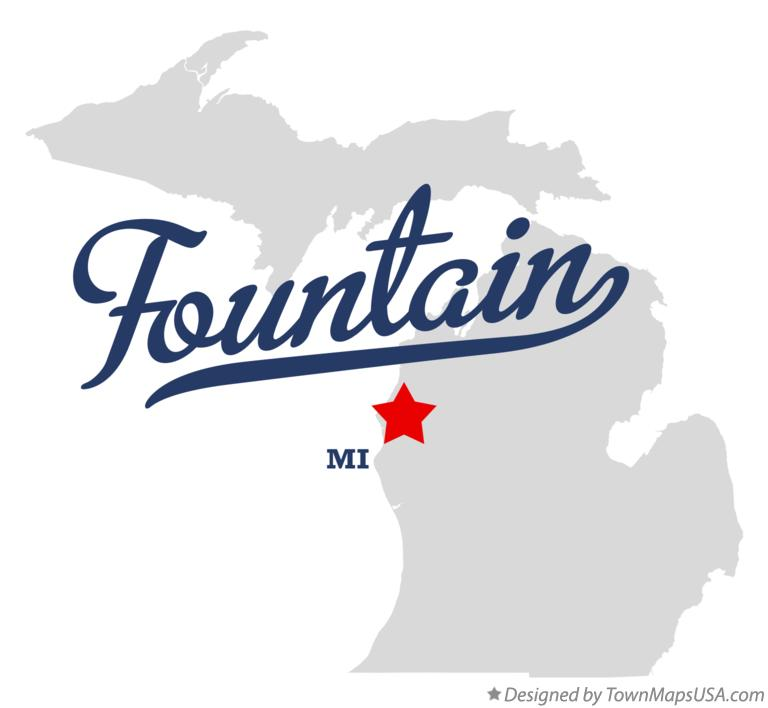 Map of Fountain Michigan MI
