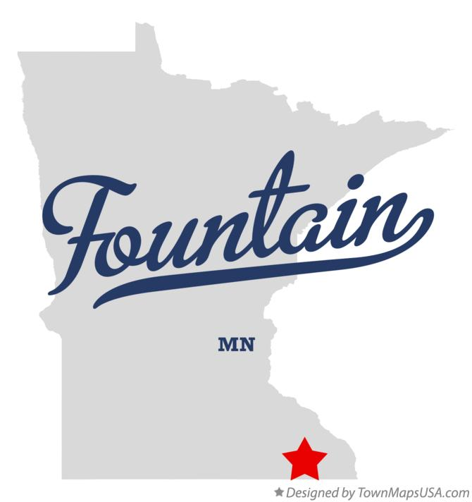 Map of Fountain Minnesota MN