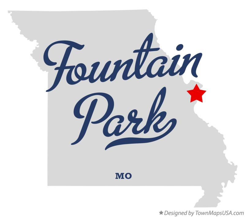 Map of Fountain Park Missouri MO