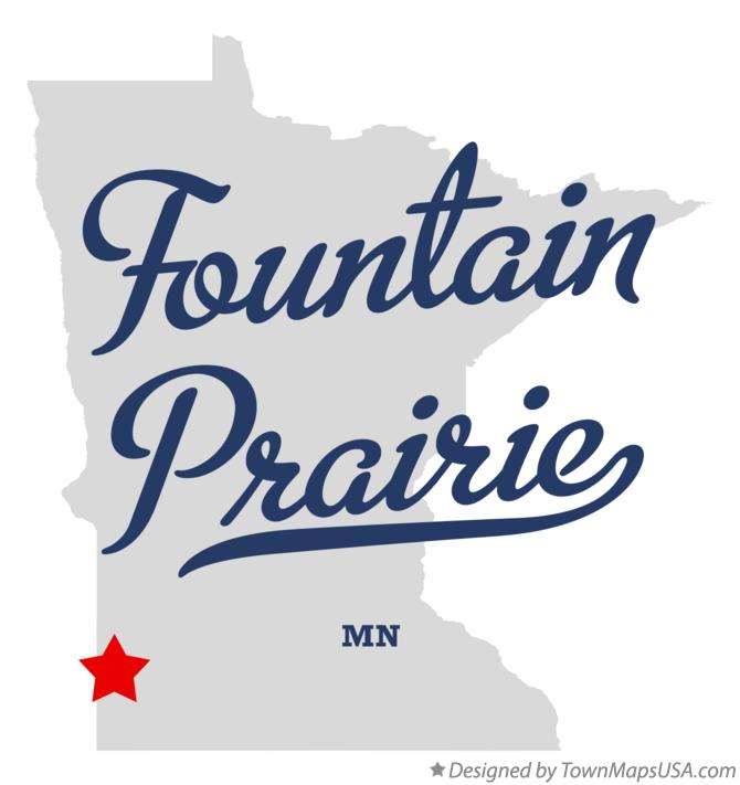 Map of Fountain Prairie Minnesota MN