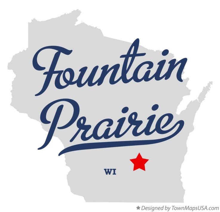Map of Fountain Prairie Wisconsin WI