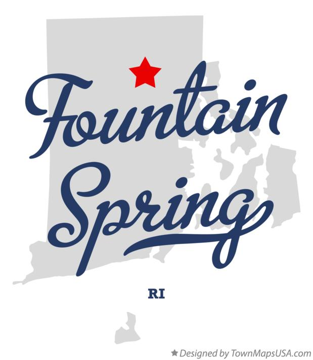 Map of Fountain Spring Rhode Island RI