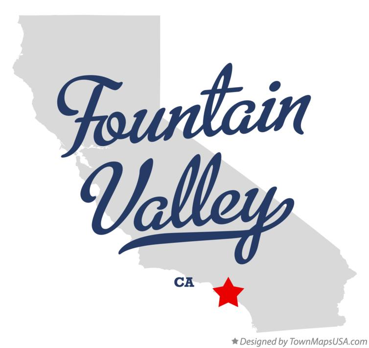 Map of Fountain Valley California CA