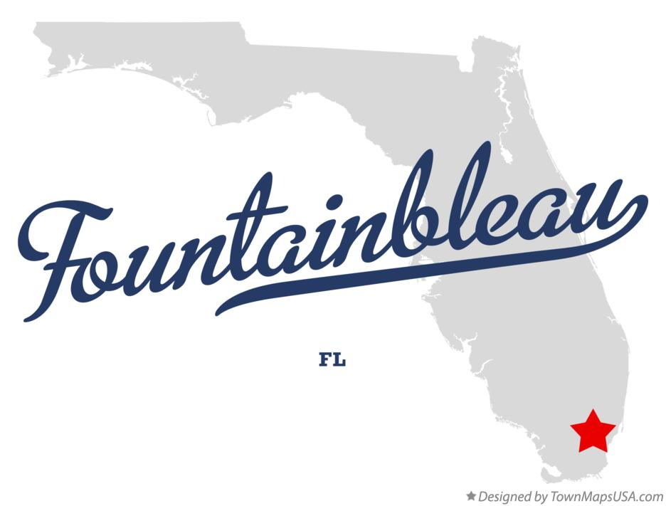 Map of Fountainbleau Florida FL
