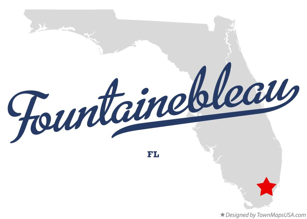 Map of Fountainebleau Florida FL