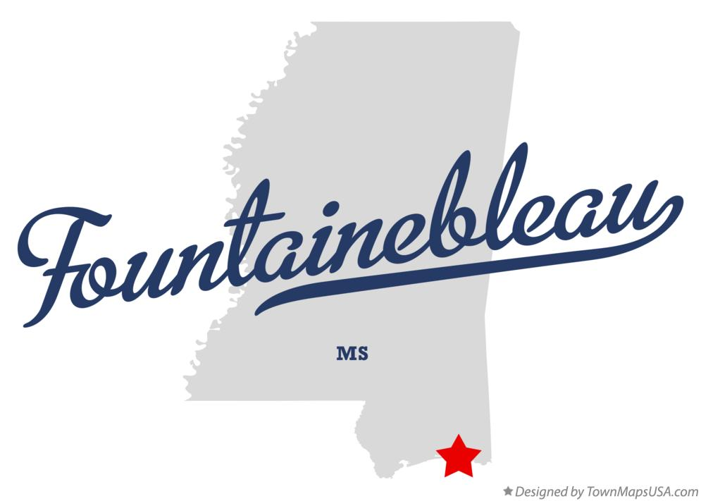 Map of Fountainebleau Mississippi MS