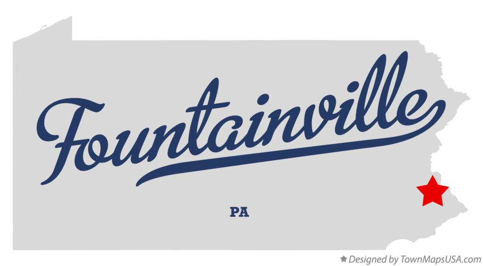 Map of Fountainville Pennsylvania PA