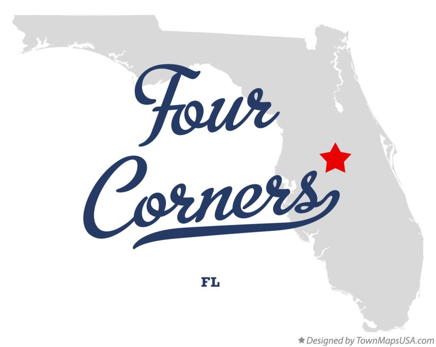 Map of Four Corners Florida FL