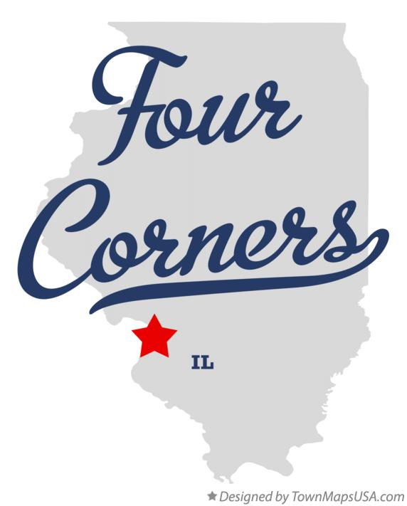 Map of Four Corners Illinois IL