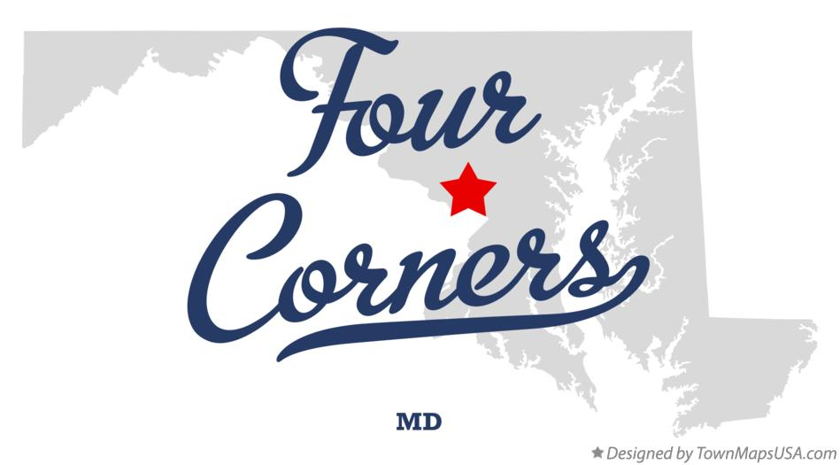 Map of Four Corners Maryland MD